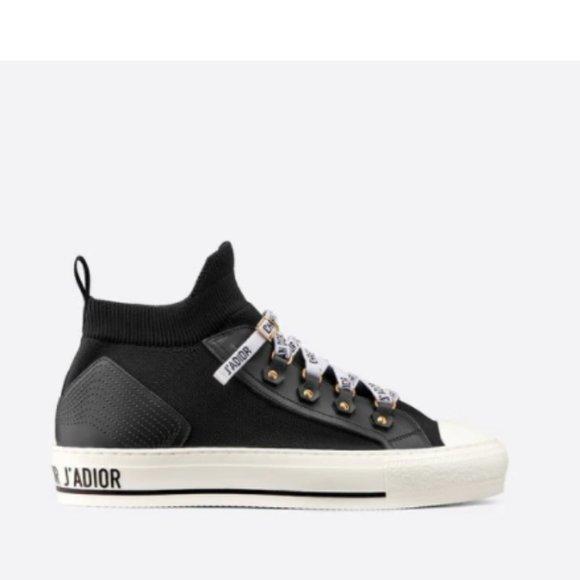 Walk'n'Dior Sneaker Black Tech Knit Sz 38